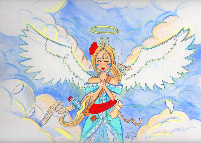 angel,dessin,manga,ditret,ange,paradis,nuage,Ah my goddness,Ah,my,goddness,déesse,deesse,loupa,sexy girl,sexy,girl,neko,sexy neko,crayons,dessin couleur,miaou,girl,fille,fille chat,chatte,chat,loup,louve,renard,renarde,croquis