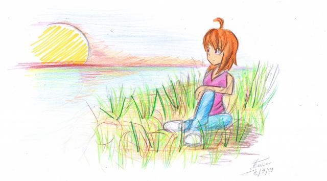 Coucher de soleil ditret la tani re de ditret cowblog - Dessin coucher de soleil ...